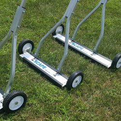 Roofing magnetic sweepers by Bluestreak Equipment_use