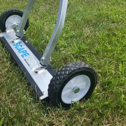 Scape Series magnetic sweeper for picking up nails in grass