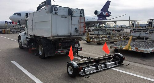 Piranha magnet cleaning airport FOD