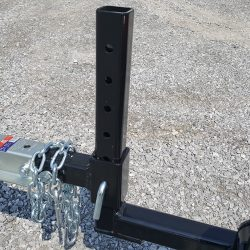 adjustable height on the caiman hitch