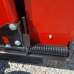 caiman magnetic sweeper with spring assisted debris release levers