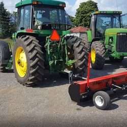 Farm tractor magnetic sweeper
