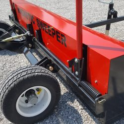 heavy duty steel frame on the caiman magnetic sweeper