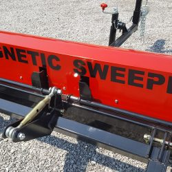 signage on the back of the caiman magnetic sweeper