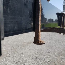 Railway spikes picked up by Eiger magnetic sweeper
