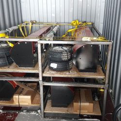 Bluestreak Equipment Caiman 82 tow behind magnet container loading