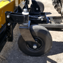 Yak foam filled flat proof casters with adjustable height to adjust sweeping height