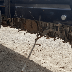 Yak front mount UTV magnetic sweeper wrap around feature holds onto debris to prevent being wiped off