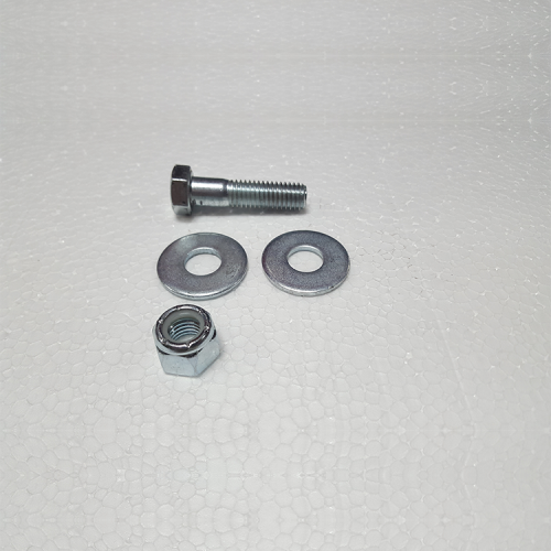 """Part #26 Yak Steel Front Position Quick Hitch Bolt 0.5"""" x 2"""" (1 pc) w/0.5"""" washers (2 pcs) and 0.5"""" Nyloc Nut (1 pc)"""