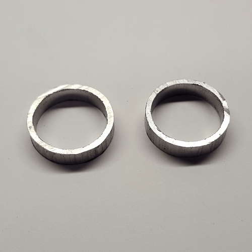 """Part #29 Atmos 0.875"""" diameter aluminum spacers 0.1875 thick (2 pcs) for pvc finned tube only"""