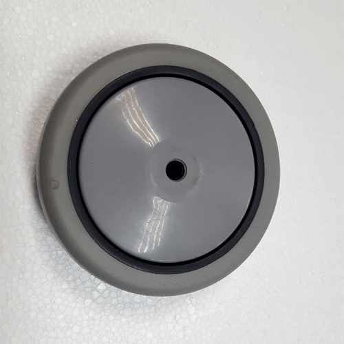 Part #2 PYR 4.5x4.5 5 inch thermoplastic Rubber wheels mounted on a Polypropylene Core (1 pc)