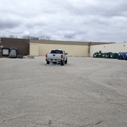 sweeping for metal debris mall parking lot PYR magnetic sweeper