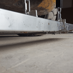 Debris picked up by Kursk_ rear pin mounted forklift magnetic sweeper