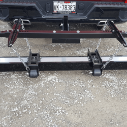 2 inch receiver hitch mounted magnet by Bluestreak Equipment