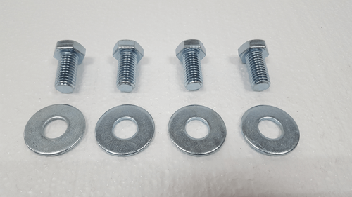 Part #3 Oblast fork pocket bolts 0.5 inch x 1.0 inch (4pcs) with washers (4pcs)