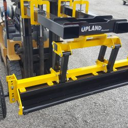Fork Mounted Magnetic Sweeper Suspension Travel