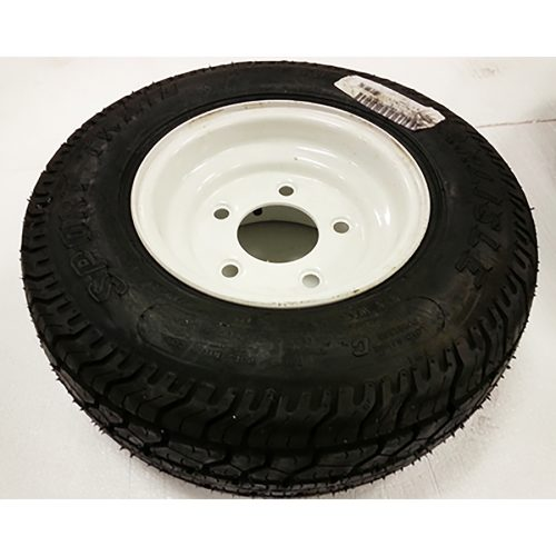 Part #25 Upland 16.5 x 6.5 inch flat proof tire and steel wheel assembly (1pc)